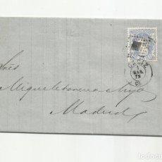 Sellos: ENVUELTA CIRCULADA 1872 DE CADIZ A MADRID CON FECHADOR LLEGADA. Lote 222517465