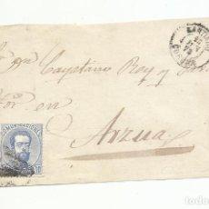 Sellos: FRONTAL CIRCULADA 1872 DE SANTIAGO CORUÑA A ARZUA. Lote 222518830
