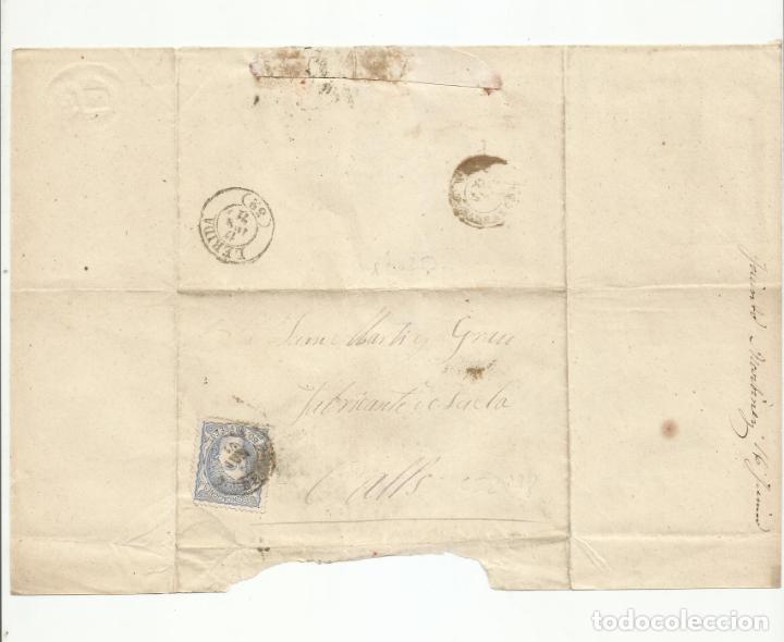 ENVUELTA CIRCULADA 1871 DE LLEIDA LERIDA A VALLS TARRAGONA (Sellos - España - Amadeo I y Primera República (1.870 a 1.874) - Cartas)