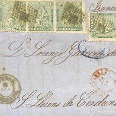 Sellos: ESPAÑA, CARTA CIRCULADA EN EL AÑO 1874. Lote 222649098