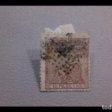 Sellos: ESPAÑA - 1873 - I REPUBLICA - EDIFIL 140 - AUTENTICO - SELLO CLAVE - VALOR CATALOGO 3200€. Lote 251596160