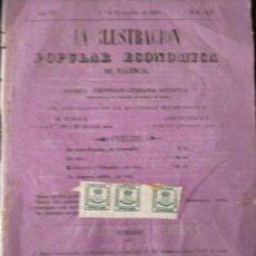 Sellos: REINADO AMADEO I, CORONA REAL AÑO 1872-EDIFIL 115, SIN DENTAR SOBRE PERIODICO 1880 SIN MATASELLOS. Lote 223960306