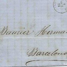 Sellos: ESPAÑA 2 CARTAS COMPLETAS ESCRITAS EN 1873 DE MADRDI A BARCELONA.. Lote 225123222
