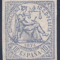 Sellos: EDIFIL 145S ALEGORÍA DE LA JUSTICIA 1874. SIN DENTAR. VALOR CATÁLOGO: 23 €. LUJO. MNH **. Lote 227640170