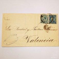 Sellos: SOBRE CON DOS SELLOS DE 1874, DE FERROL A VALENCIA. Lote 228314575