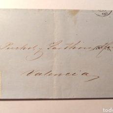 Sellos: SOBRE DE 1871 DE BARCELONA A VALÉNCIA. Lote 228315325