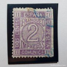 Sellos: EDIFIL 116, 2 CENTS, AMADEO I, USADO, 1872. Lote 232091145