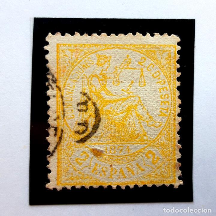 EDIFIL 143, 2 CENTS, I REPÚBLICA, 1874 (Sellos - España - Amadeo I y Primera República (1.870 a 1.874) - Usados)