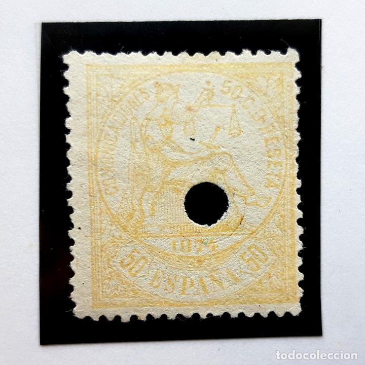 EDIFIL 149, 50 CENTS, I REPÚBLICA, PERFORADO, 1874 (Sellos - España - Amadeo I y Primera República (1.870 a 1.874) - Usados)