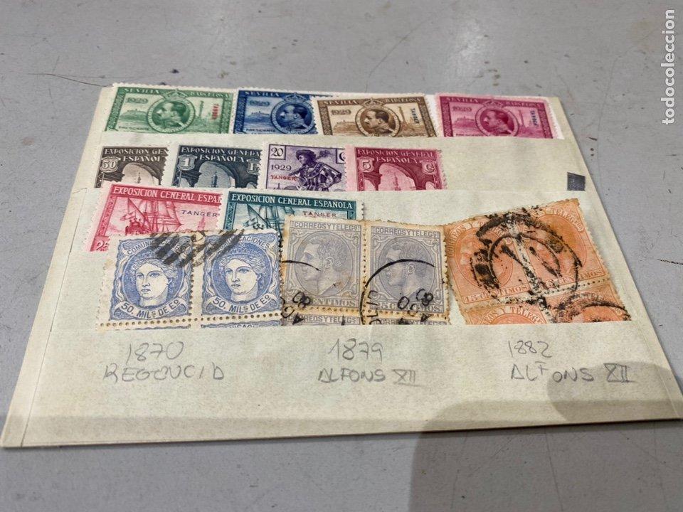SELLOS ESPAÑA ANTIGUOS 1870 . 1879.1882 1929 . VER FOTOS (Sellos - España - Amadeo I y Primera República (1.870 a 1.874) - Usados)