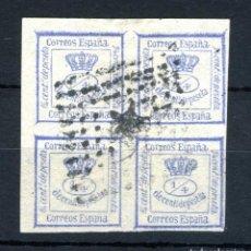 Selos: XS- AMADEO I 1872 CORONA REAL 4/4 ULTRAMAR EDIFIL 115 RARO. Lote 234581540