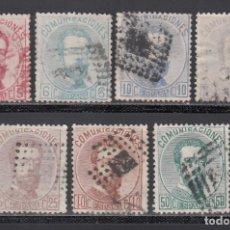 Selos: ESPAÑA, 1872 EDIFIL Nº 118, 119, 121, 122, 124, 125, 126, AMADEO I. Lote 234660590
