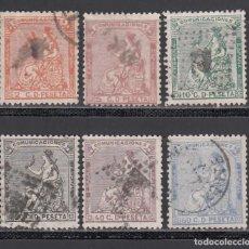 Selos: ESPAÑA, 1873 EDIFIL Nº 131, 132, 133, 134, 136, 137,. Lote 234662450