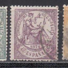 Selos: ESPAÑA, 1874 EDIFIL Nº 146, 148, 149, ALEGORÍA DE LA JUSTICIA. Lote 234704210