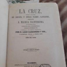 Sellos: 1871. LA CRUZ ENCUADERNADO. TIMBRE DE PERIODICOS 3 PTAS 10 KILOS DE AMADEO DE SABOYA. Lote 234898465