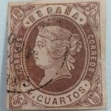 Sellos: SPAÑA-1864.ISABEL II.4 CUARTOS.USADO.. Lote 236670145