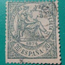 Sellos: ESPAÑA. 1874. EDIFIL 146. USADO.. Lote 238326130