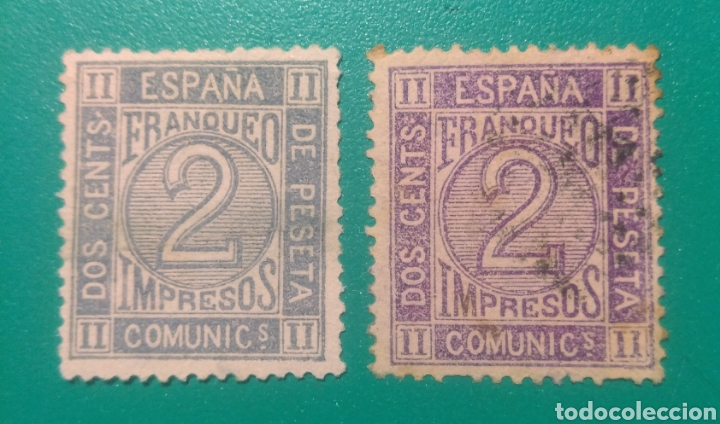 ESPAÑA. 1872. EDIFIL 116. AMADEO I. 2 SELLOS. (Sellos - España - Amadeo I y Primera República (1.870 a 1.874) - Usados)