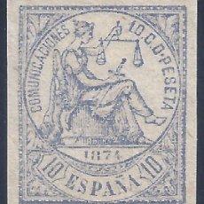 Sellos: EDIFIL 145S ALEGORÍA DE LA JUSTICIA 1874. SIN DENTAR. VALOR CATÁLOGO: 23 €. LUJO. MNH **. Lote 242445975