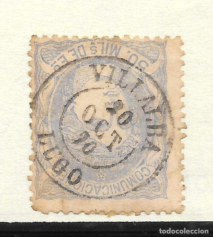 MATRONA EDIFIL 107. LUGO FECHADOR DE VILLALBA 20-OCT-1870 (Sellos - España - Amadeo I y Primera República (1.870 a 1.874) - Usados)