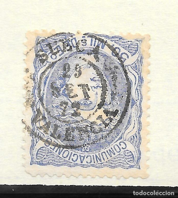 MATRONA EDIFIL 107. VALENCIA FECHADOR DE SUECA 29-SEP-1872 (Sellos - España - Amadeo I y Primera República (1.870 a 1.874) - Usados)