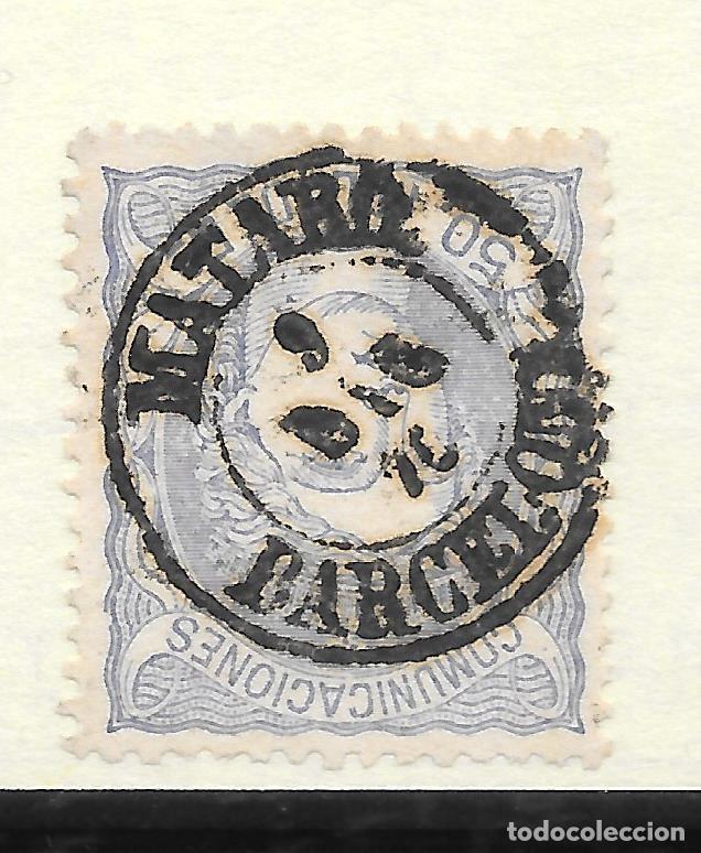 MATRONA EDIFIL 107. BARCELONA FECHADOR DE MATARO 9-DIC-1870 (Sellos - España - Amadeo I y Primera República (1.870 a 1.874) - Usados)