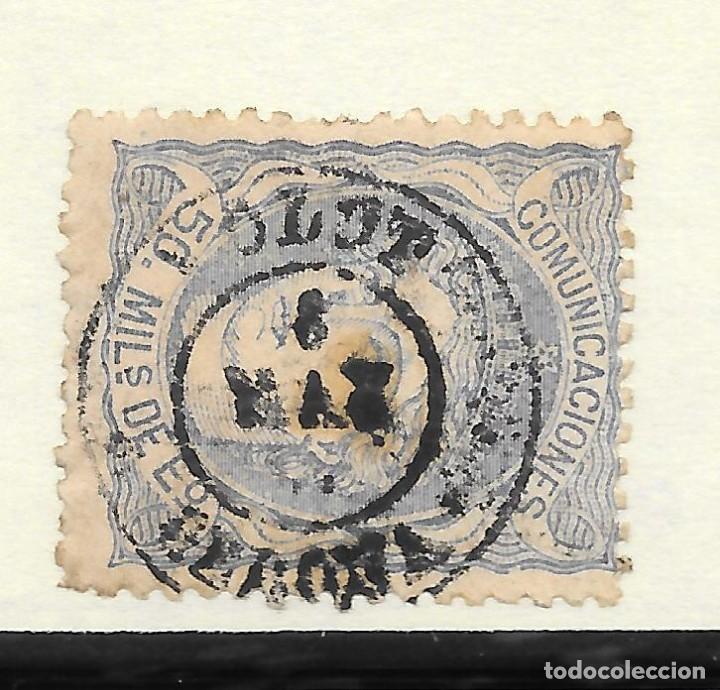 MATRONA EDIFIL 107. GERONA FECHADOR DE OLOT 8-MAY-71 (Sellos - España - Amadeo I y Primera República (1.870 a 1.874) - Usados)