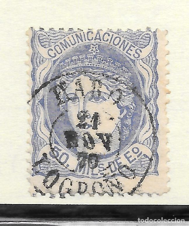 MATRONA EDIFIL 107. LOGROÑO FECHADOR HARO 1870 (Sellos - España - Amadeo I y Primera República (1.870 a 1.874) - Usados)