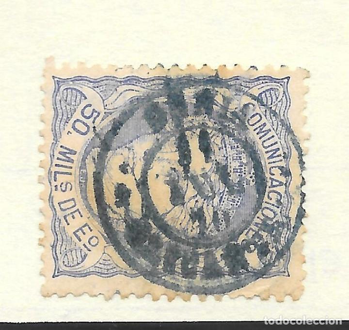 MATRONA EDIFIL 107. ALICANTE FECHADOR DENIA DE COLOR AZUL 1870 (Sellos - España - Amadeo I y Primera República (1.870 a 1.874) - Usados)
