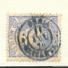 Sellos: MATRONA EDIFIL 107. ALICANTE FECHADOR DENIA DE COLOR AZUL 1870. Lote 243242300