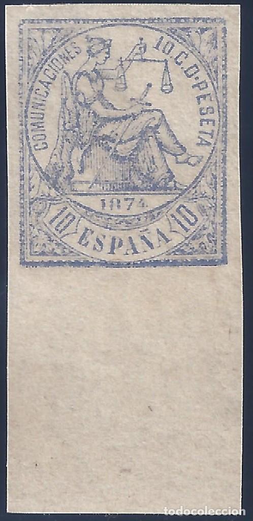 EDIFIL 145S ALEGORÍA DE LA JUSTICIA 1874. SIN DENTAR. VALOR CATÁLOGO: 23 €. LUJO. MNH ** (Sellos - España - Amadeo I y Primera República (1.870 a 1.874) - Nuevos)