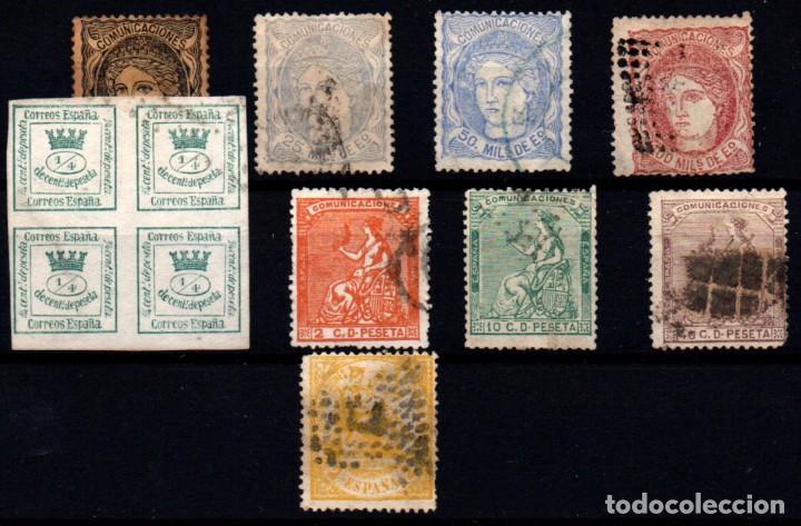 ESPAÑA Nº 103, 106/8, 130/1, 133, 136, 143. AÑO 1870/74 (Sellos - España - Amadeo I y Primera República (1.870 a 1.874) - Usados)