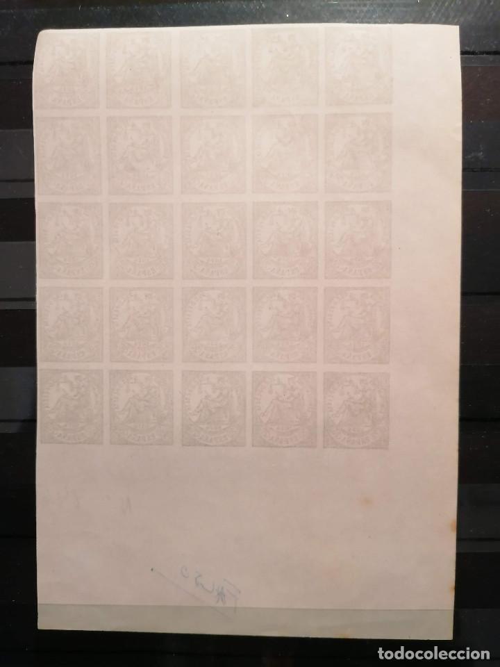 Sellos: España Falso Filatelico lote sellos 25 sellos pliego hoja nuevo Edifil 146 años 1920 - Foto 2 - 246149995