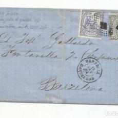 Sellos: ENVUELTA CIRCULADA 1874 DE SABADELL A BARCELONA. Lote 246253215