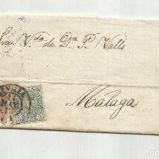 Timbres: CIRCULADA Y ESCRITA 1875 ENVIO POR VAPOR ACEITUNAS GORDALES DE SEVILLA A MALAGA. Lote 252123980