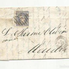 Sellos: CIRCULADA Y ESCRITA 1870 DE BARCELONA A ALCUDIA PALMA DE MALLORCA BALEARES. Lote 252275345