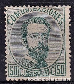 SELLOS ESPAÑA 1872 REINADO DE AMADEO I EDIFIL 126* EN NUEVO VALOR DE CATALOGO 143€ (Sellos - España - Amadeo I y Primera República (1.870 a 1.874) - Nuevos)