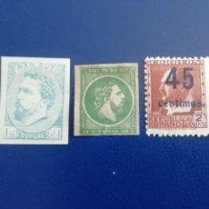 Timbres: 1873, 1875 Y VICENTE BLASCO IBAÑEZ. Lote 253333150
