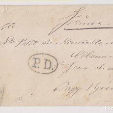 Sellos: SOBRE. SANTANDER, CANTABRIA. 1875. MATASELLOS AMBULANTE. VER DORSO. Lote 254633395