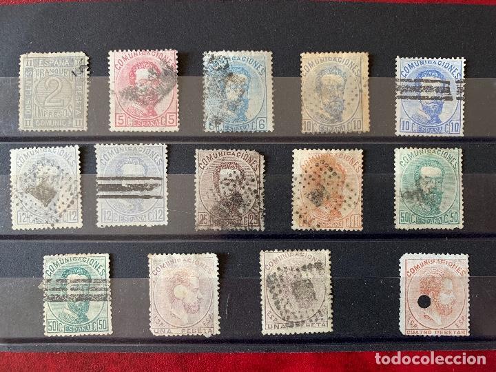 LOTE AMEDEO I. (Sellos - España - Amadeo I y Primera República (1.870 a 1.874) - Usados)
