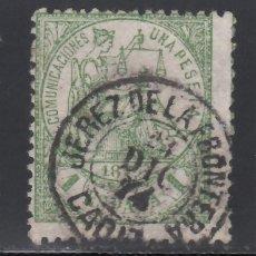 Sellos: ESPAÑA, 1874 EDIFIL Nº 150. 1 PTS. VERDE. MAT. JEREZ DE LA FRONTERA,. Lote 256048000