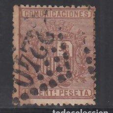 Sellos: ESPAÑA, 1874 EDIFIL Nº 153, 10 C. CASTAÑO, ESCUDO DE ESPAÑA. MAT. FRANCES. Lote 257315160