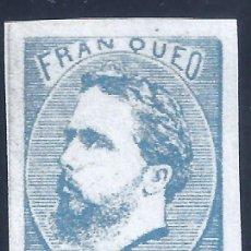 Selos: EDIFIL 156A CARLOS VII. 1873. CORREO CARLISTA (SIN TILDE SOBRE LA Ñ). FALSO FILATÉLICO. MNG.. Lote 258078605