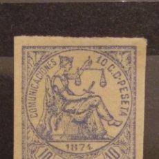 Selos: AÑO 1874 ALEGORÍA DE LA JUSTICIA SELLO NUEVO EDIFIL 145 VALOR DE CATALOGO 23,00 EUROS. Lote 260294535