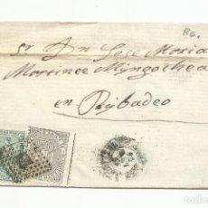 Sellos: CIRCULADA 1874 A RIBADEO LUGO. Lote 260334890