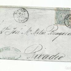 Sellos: ENVUELTA CIRCULADA 1875 DE SANTIAGO A RIBADEO LUGO. Lote 260336465