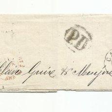 Timbres: ENVUELTA CIRCULADA 1873 DE LION A CADIZ. Lote 260337365
