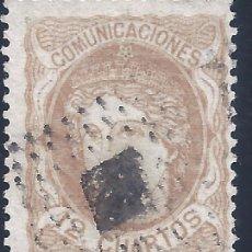 Selos: EDIFIL 113 EFIGIE ALEGÓRICA DE ESPAÑA 1870. VALOR CATÁLOGO: 12,50 €.. Lote 260383220