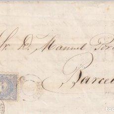 Sellos: CARTA CON SELLO NUM. 107 Y CON FECHADOR NEGRO DE AGUILAS -1871. Lote 260691020