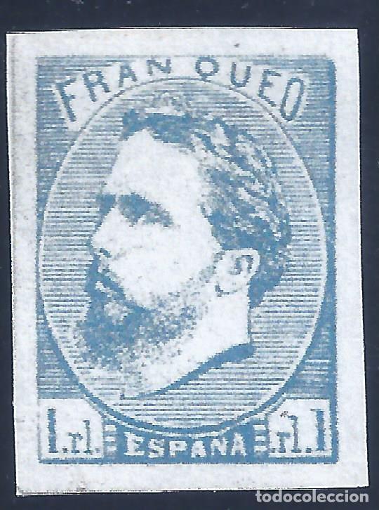 EDIFIL 156A CARLOS VII. 1873. CORREO CARLISTA (SIN TILDE SOBRE LA Ñ). FALSO FILATÉLICO. MNG. (Sellos - España - Amadeo I y Primera República (1.870 a 1.874) - Nuevos)